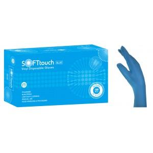 Soft Touch Γάντια Βινυλίου - Μπλε με πούδρα