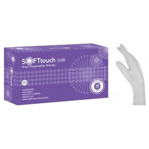 Soft Touch Γάντια Βινυλίου - Λευκό χωρίς πούδρα