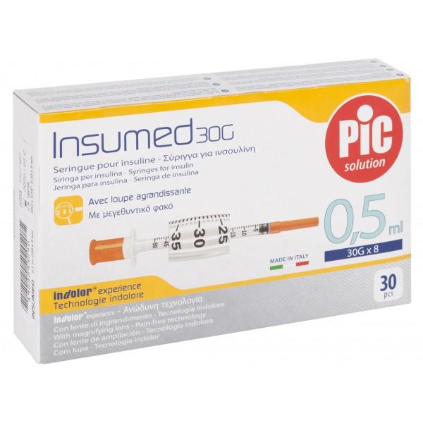 Σύριγγες PIc 0,5ml G30 Ινσουλίνης