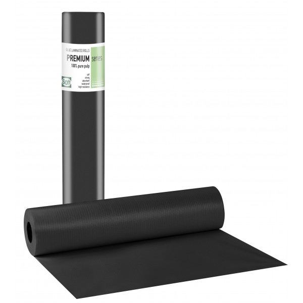 PREMIUM STANDARD Πλαστικό + Χαρτί  Μαύρο - 58cm x 50m