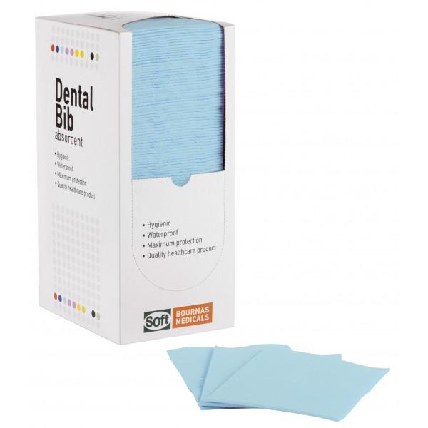 Οδοντιατρική πετσέτα Γαλάζια - 1ply + 1ply (χωρίς dispenser)