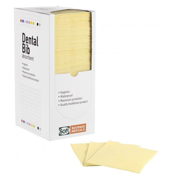 Οδοντιατρική πετσέτα Κίτρινη - 1ply + 1ply (χωρίς dispenser)