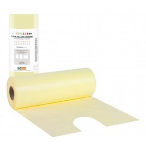 Οδοντιατρικές πετσέτες σε ρολό με λαιμόκοψη - Κίτρινο