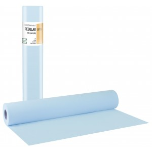 REGULAR STANDARD Εξεταστικό Ρολό Χάρτινο δίφυλλο Γκοφρέ Γαλάζιο - 50cm x 50m