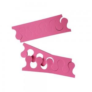 Διαχωριστικά Δακτύλων Πεντικιούρ Ροζ (100ζεύγη)