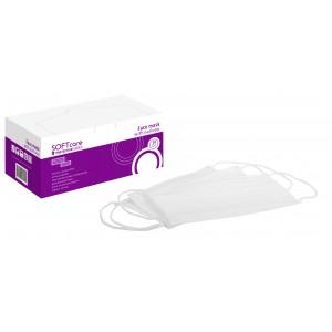 Ιατρική Μάσκα 3ply με λάστιχο - Λευκή